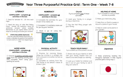 Year Three Purposeful Practice Grid Week 7-8