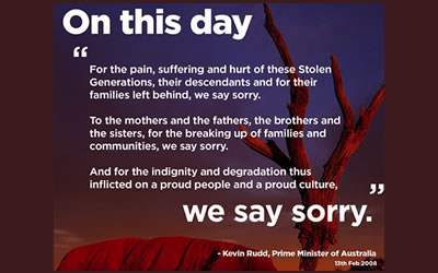 Anniversary – National Apology to Stolen Generation